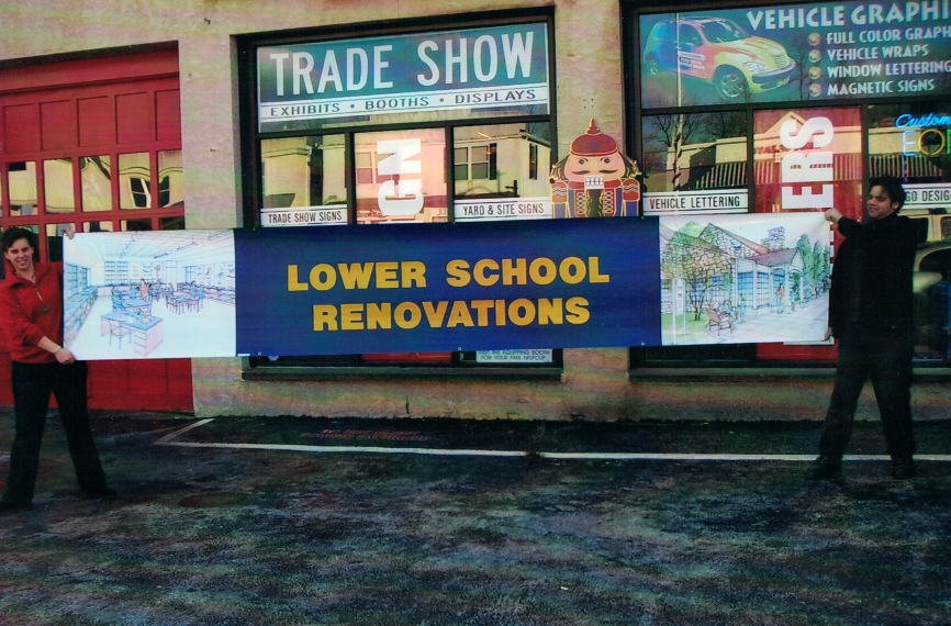Lower School Renovations Sign Studios
