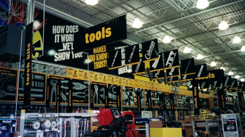 Lowes Hanging Signs and Banners