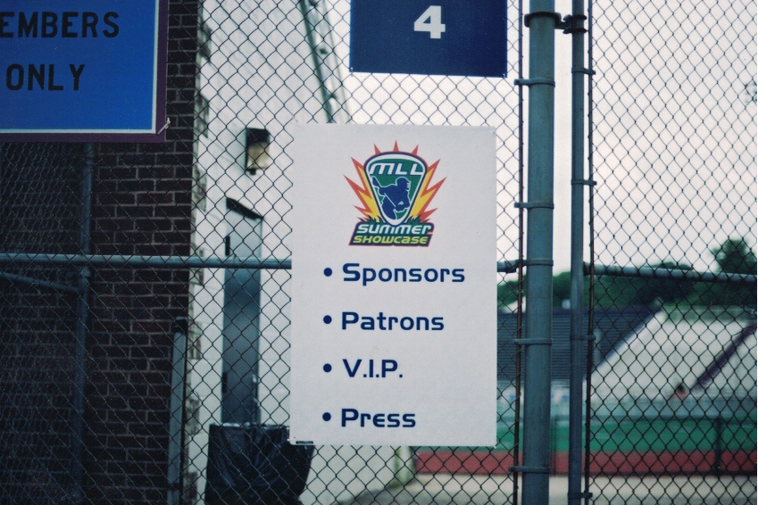 MLL Summer Showcase Sign