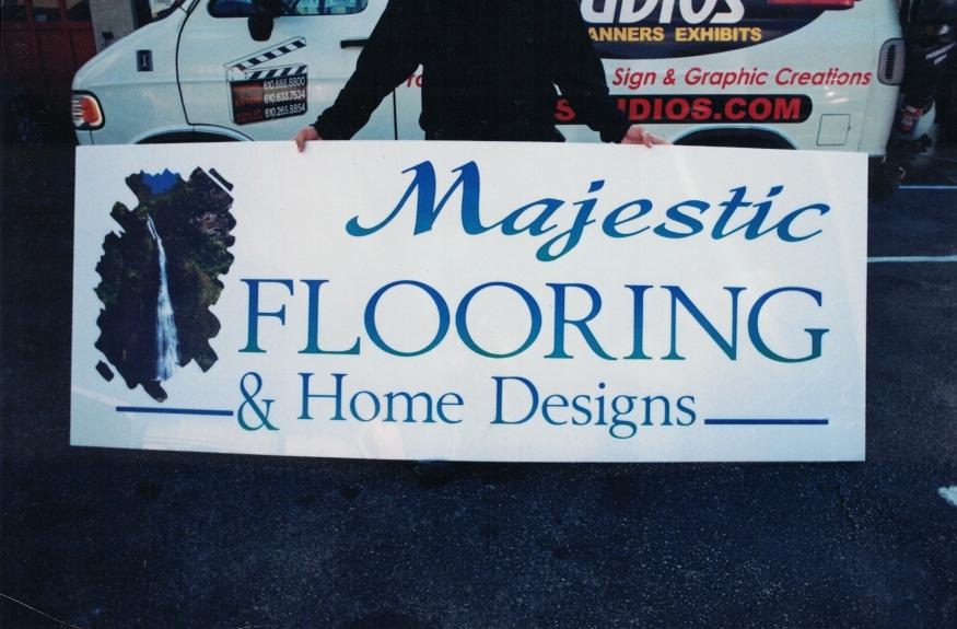 Majestic Flooring aluminum Sign Studios