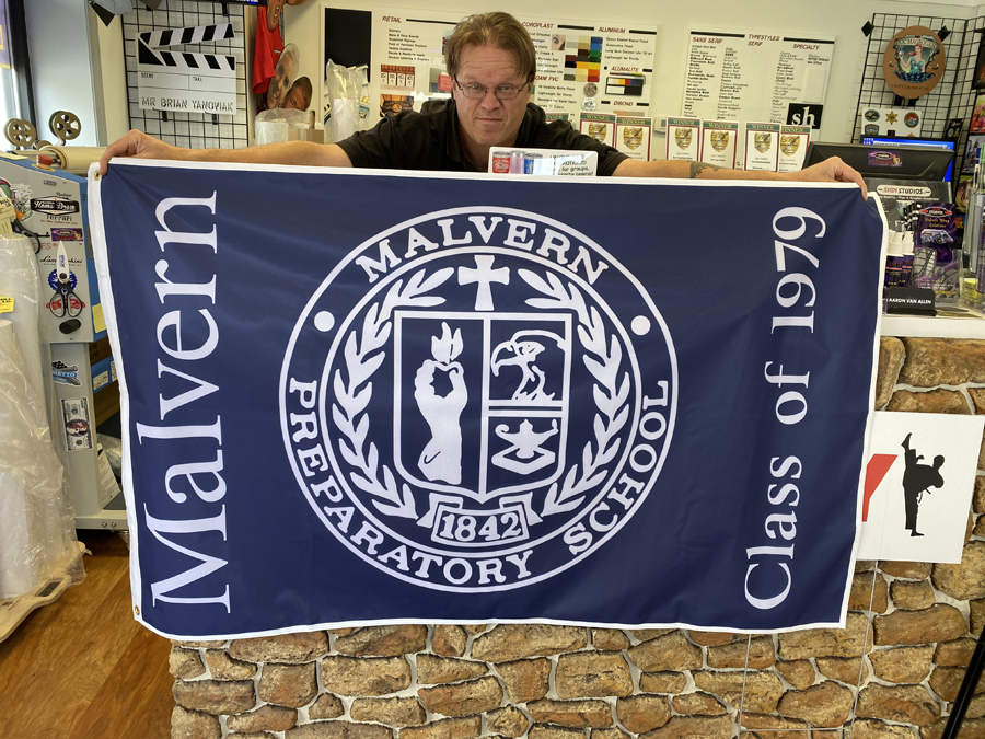 Malvern Prep Flag Sign Studios