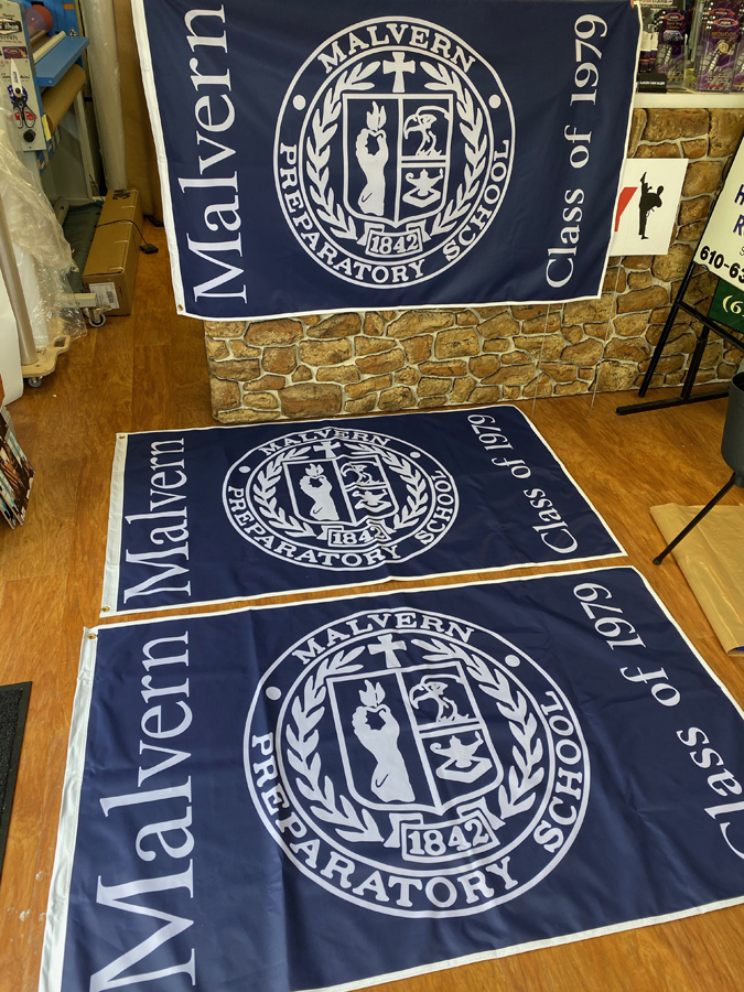 Malvern Prep Flags Sign Studios