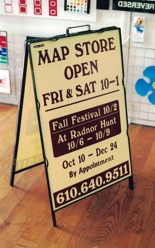 Map Store A-Frame Sign Studios