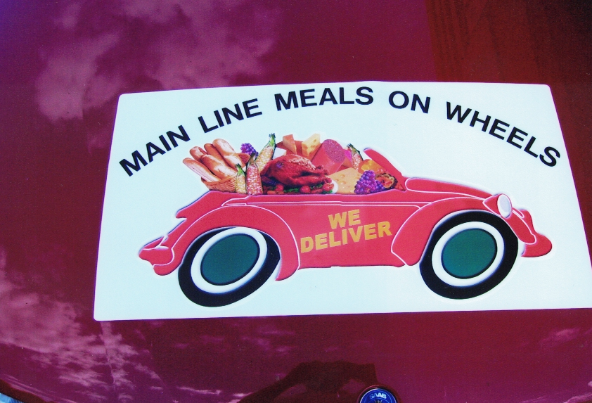 Meal on wheels Magnet Sign Studios