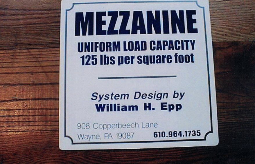Mezzanine Safety Sign Studios