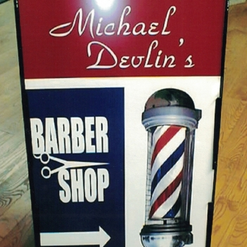 Michael Devlins a-frame Sign Studios
