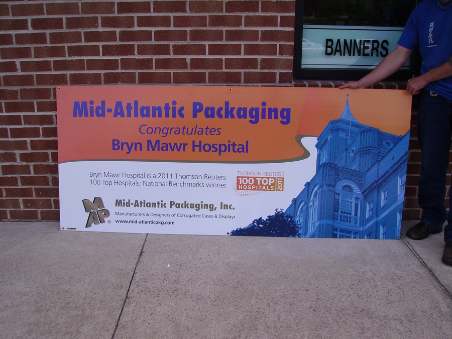 Mid-Atlantic Packaging corrugated Sign Studios