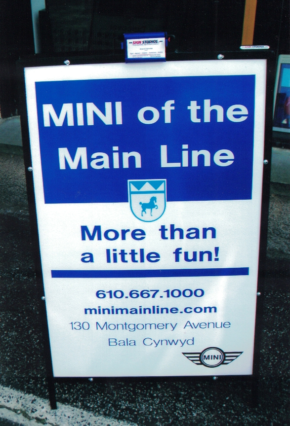 Mini of the main line auto Sign Studios