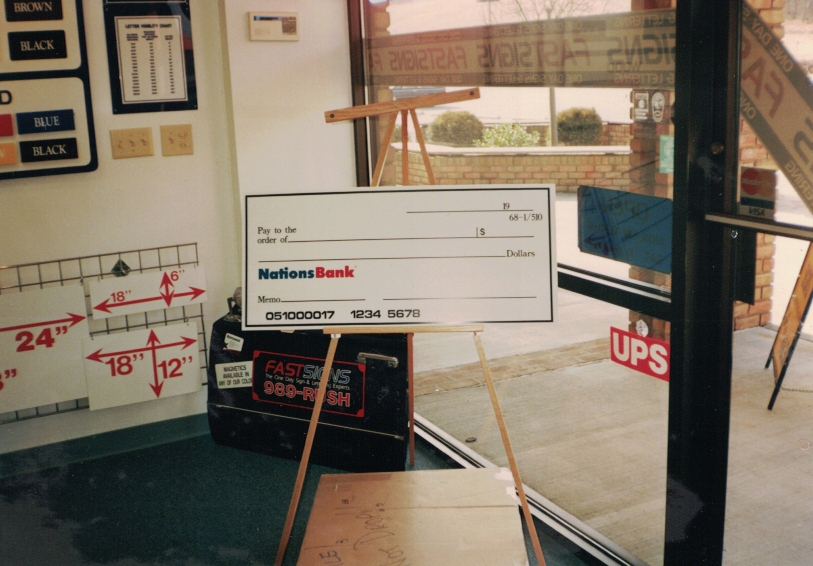 Nationsbank Check Sign Studios