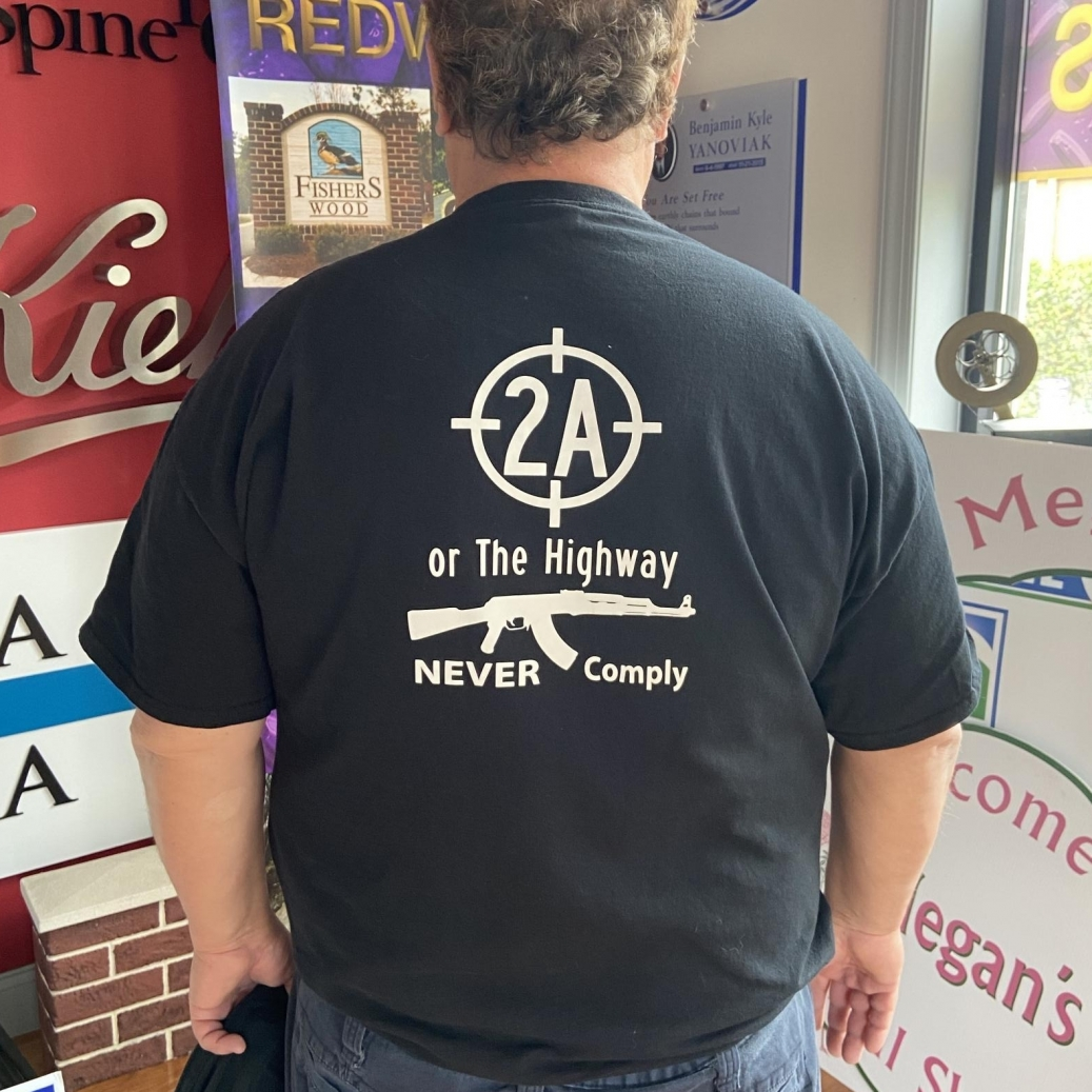 2A or the Highway Shirt Back