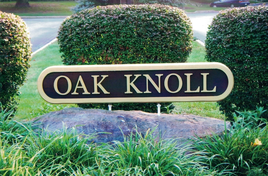 Oak Knoll monument Sign Studios