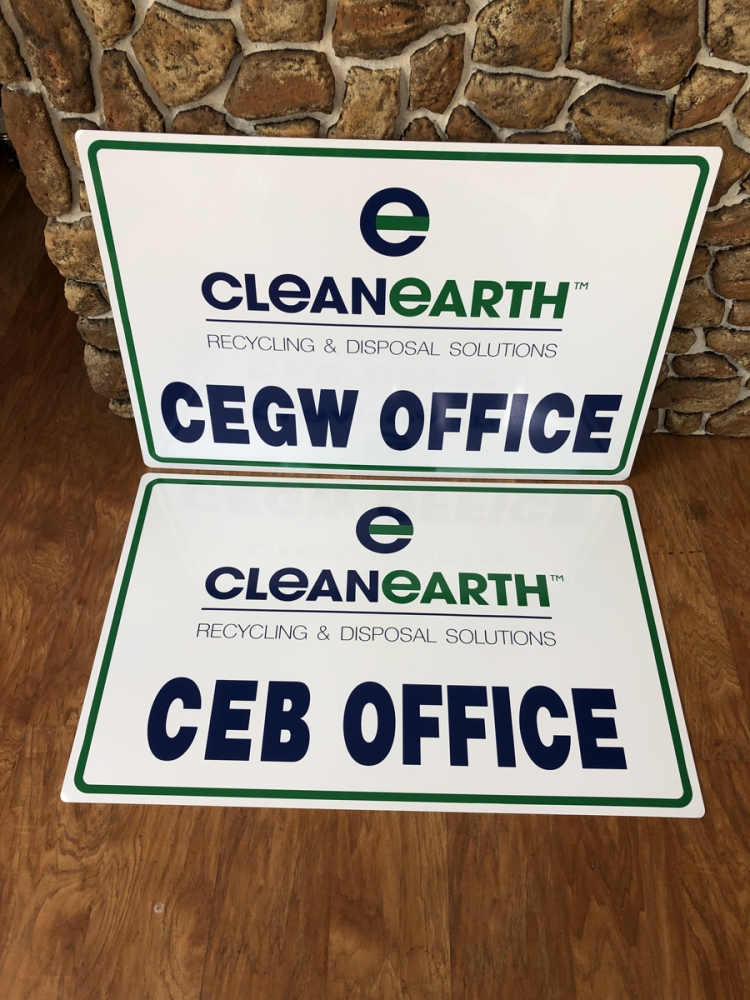 CleanEarth Office Signs