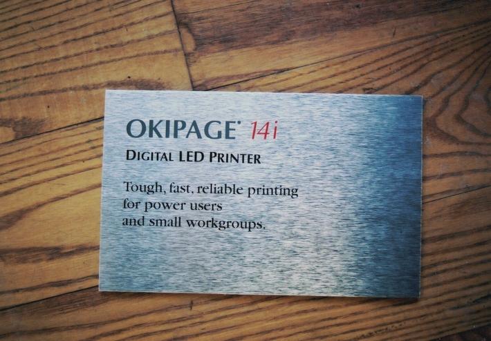 Okipage aluminum Sign Studios
