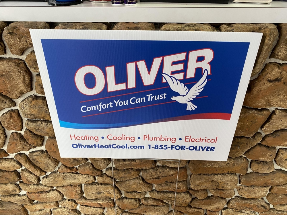 Oliver Sign on H-Stake