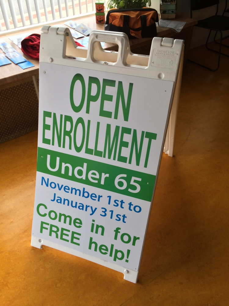 Open Enrollment corrugated Sign Studios