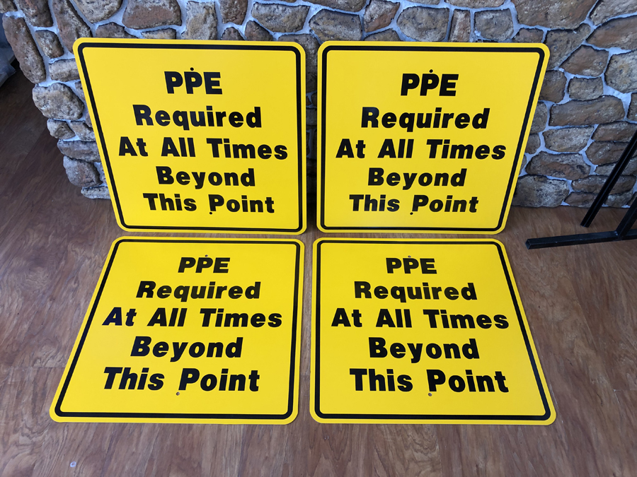 PPE Required sign safety