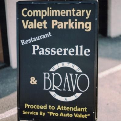 Passerelle  Bravo a-frame Sign Studios