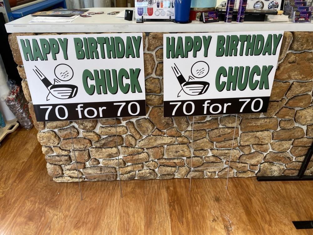 Happy Birthday Chuck Site Signs