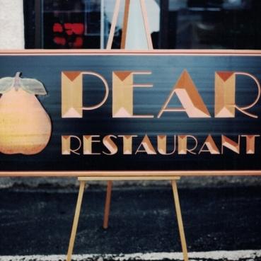 Pear Restaurant Sign Studios