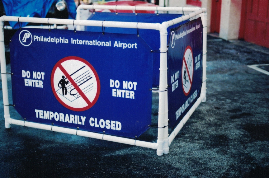 Philadelphia International Airport safety Sign Studios