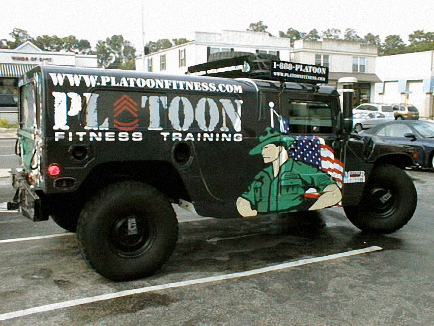 Platoon 1 wrap Sign Studios