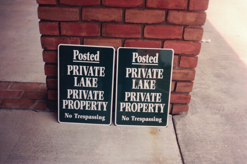 Private Lake parking Sign Studios