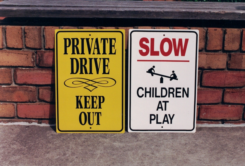 Private Slow parking Sign Studios
