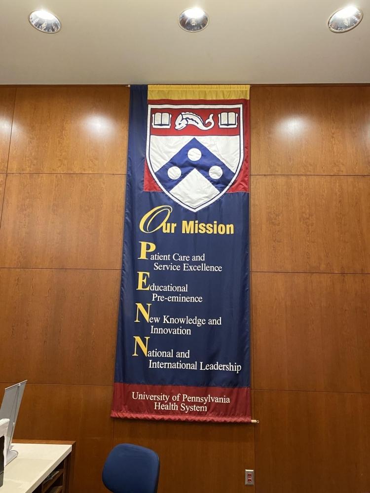 Penn Med Flag Sign Studios