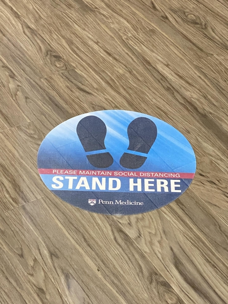 Penn Medicine Stand Here Floor Sticker
