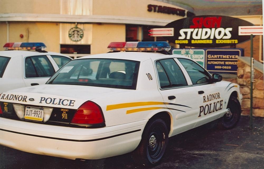 Radnor Police Car back