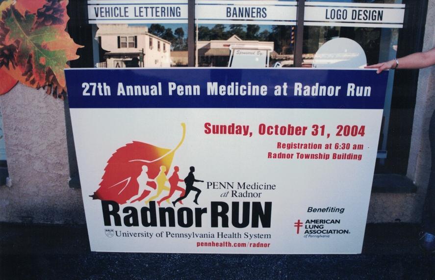 Radnor Run special Sign Studios
