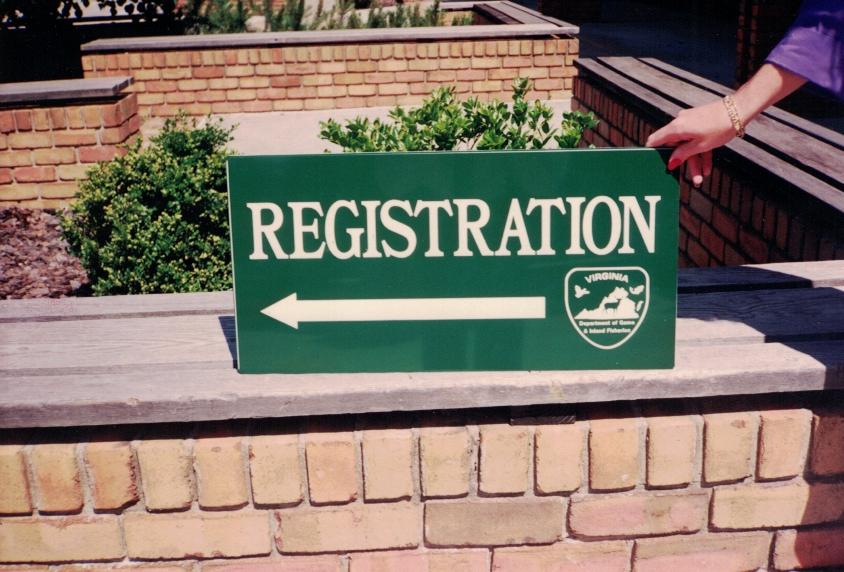Registration directional Sign Studios