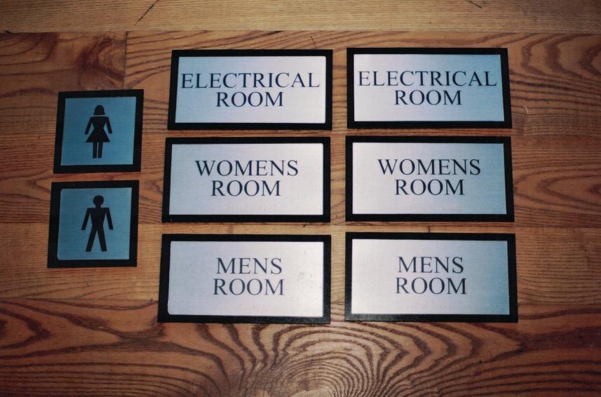 Room signs hospitals