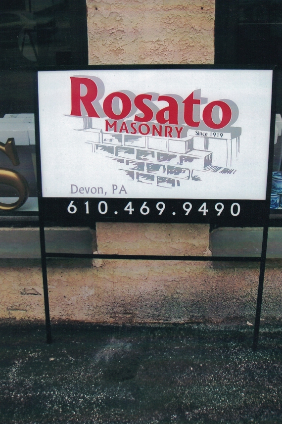 Rosato site signs Sign Studios