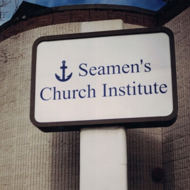 Seamam's Church Institute pylon Sign Studios