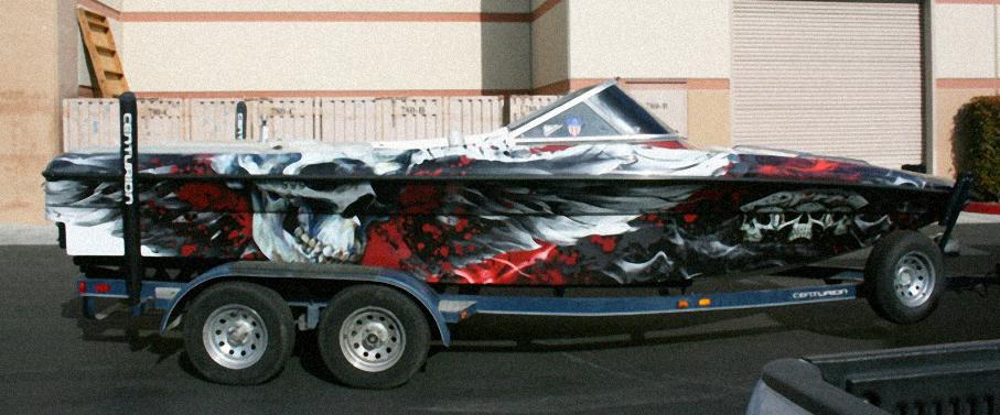 Skull Boat Wrap