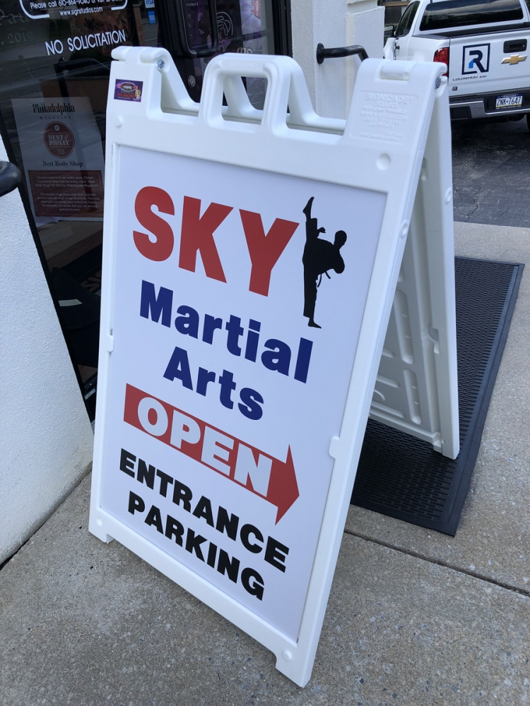 Sky Martial Arts a-frame Sign Studios