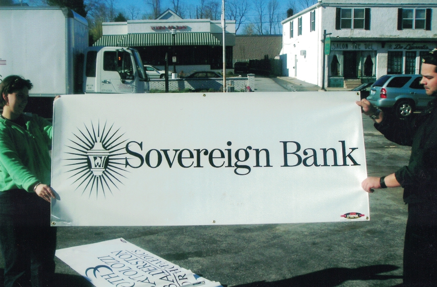 Sovereign Bank Banner Sign Studios