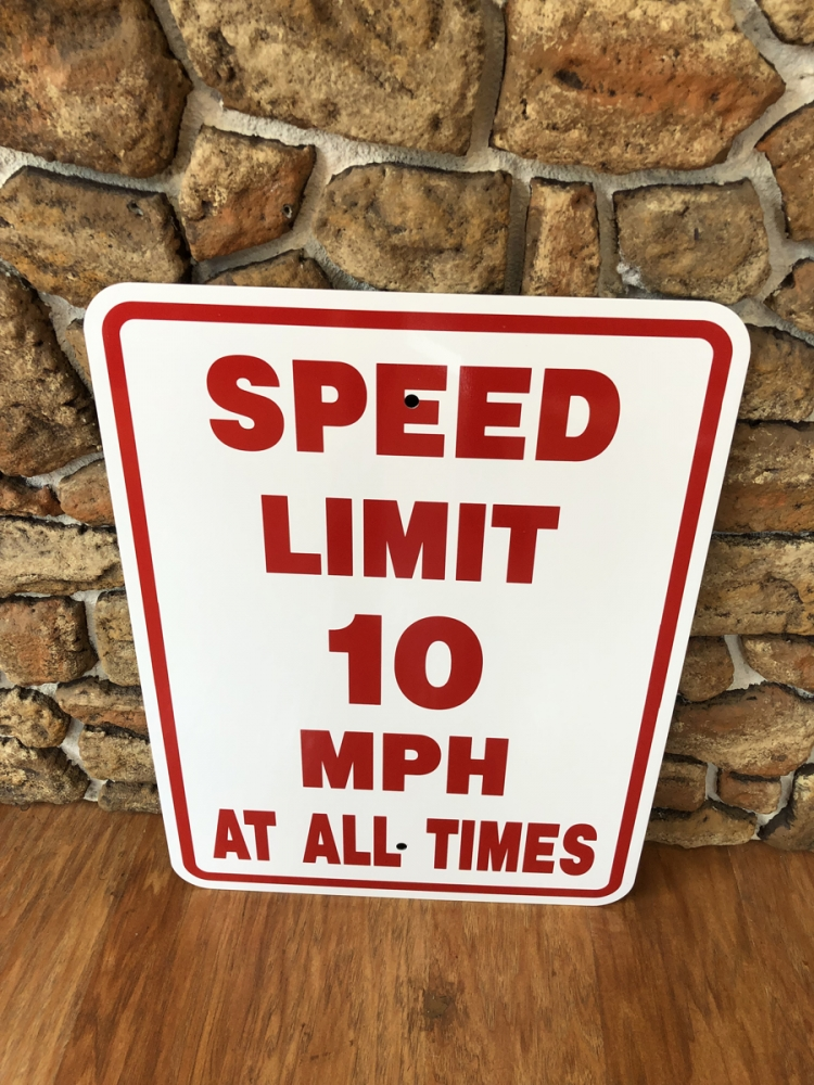 Speed limit signs 2 safety Sign Studios