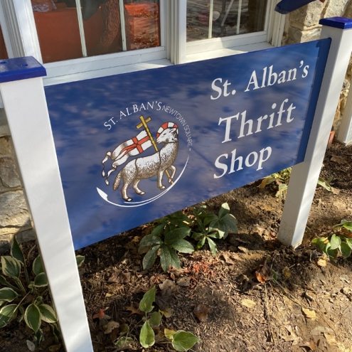 St Alban's Thrift Shop Sign