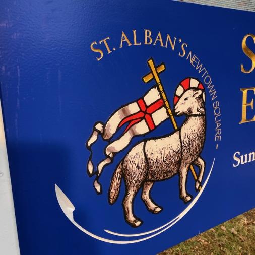 St Alban's Thrift Shop Logo Close Up