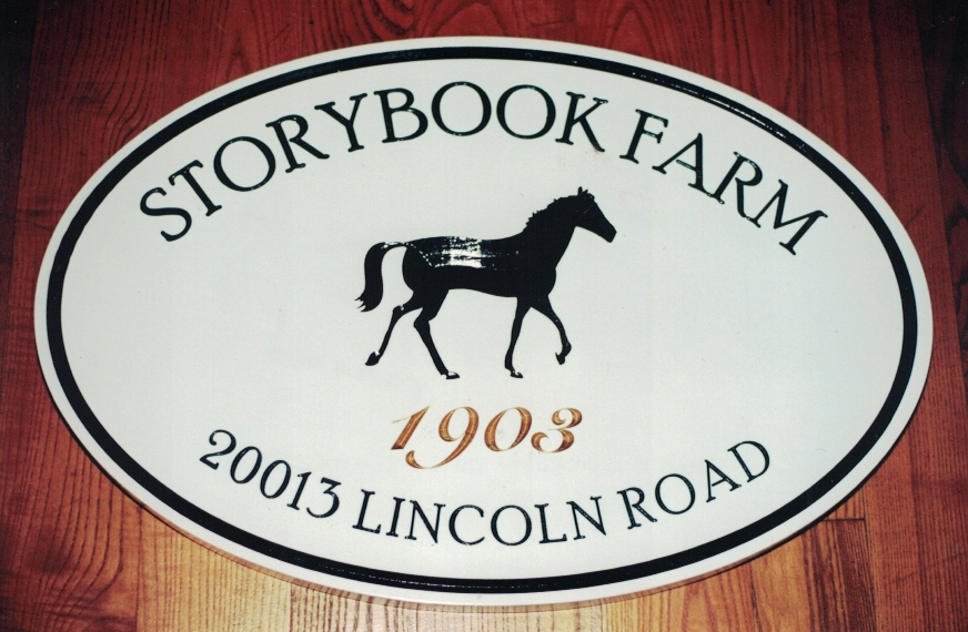 Storybook Farm redwood Sign Studios