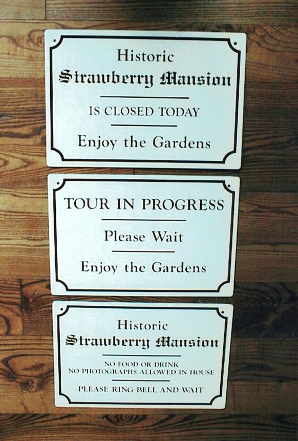Strawberry Mansion aluminum Sign Studios