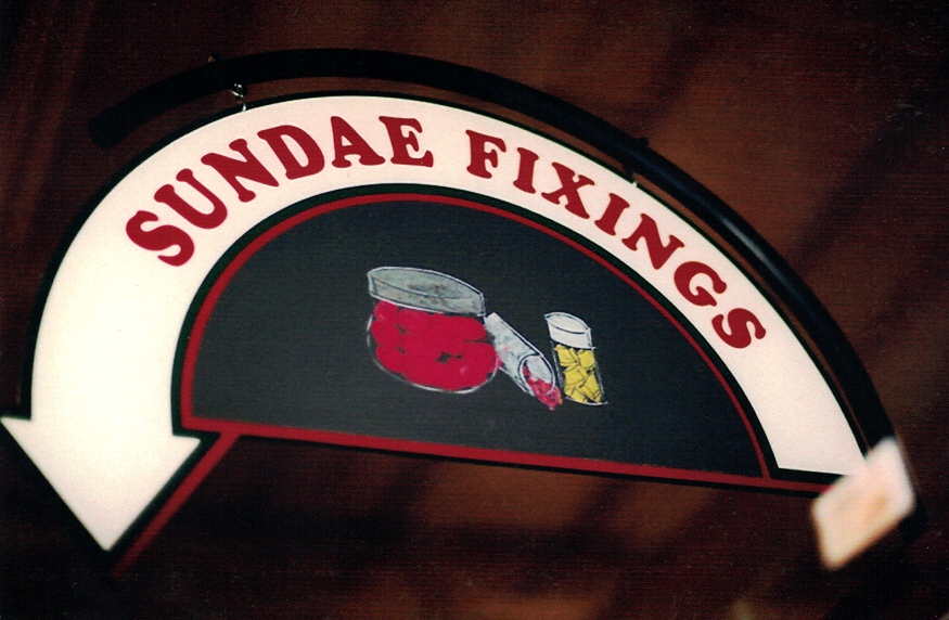 Sundae Fixings grocery Sign Studios