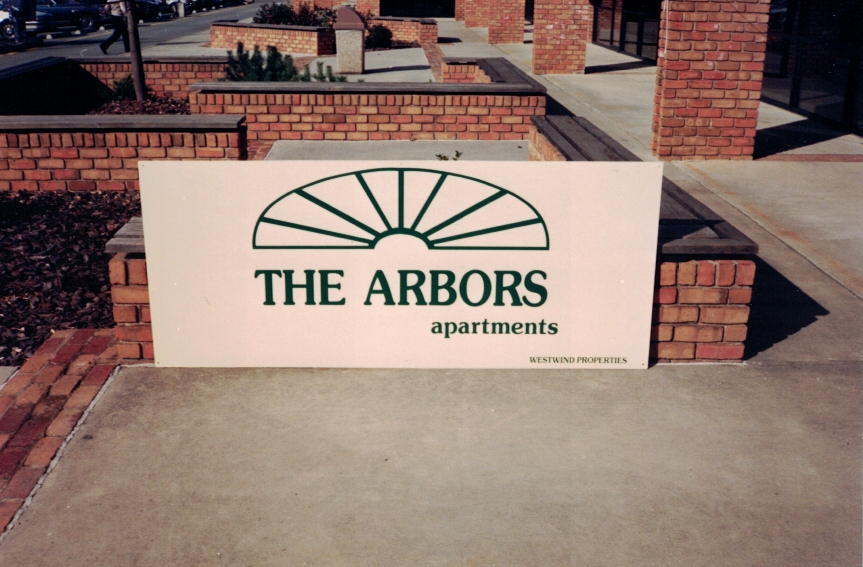 The Arbors property management Sign Studios