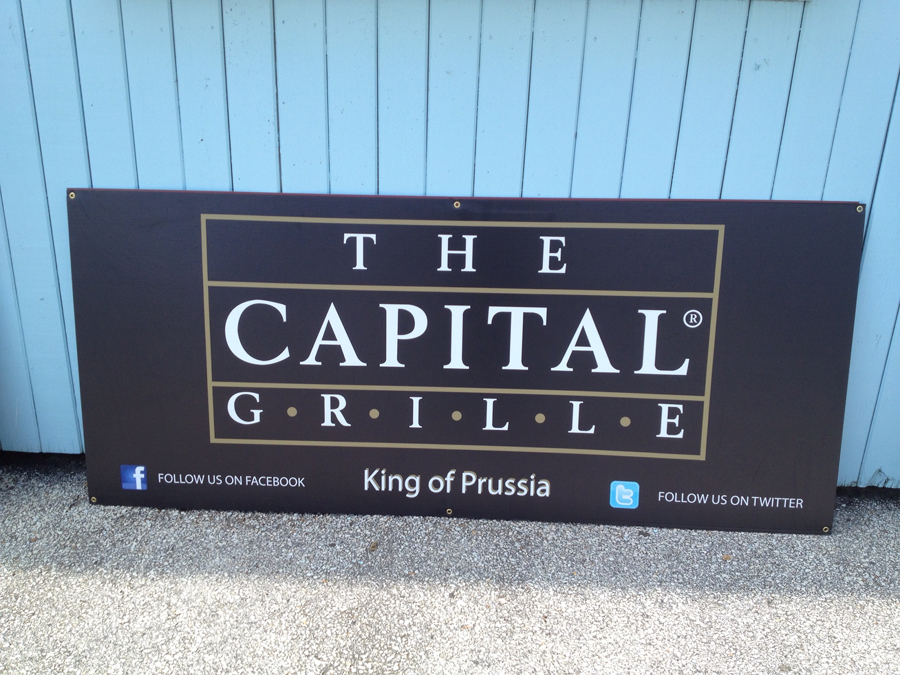 The Capital Grille corrugated Sign Studios