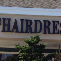 The Hairdresser Inc channel letters Sign Studios