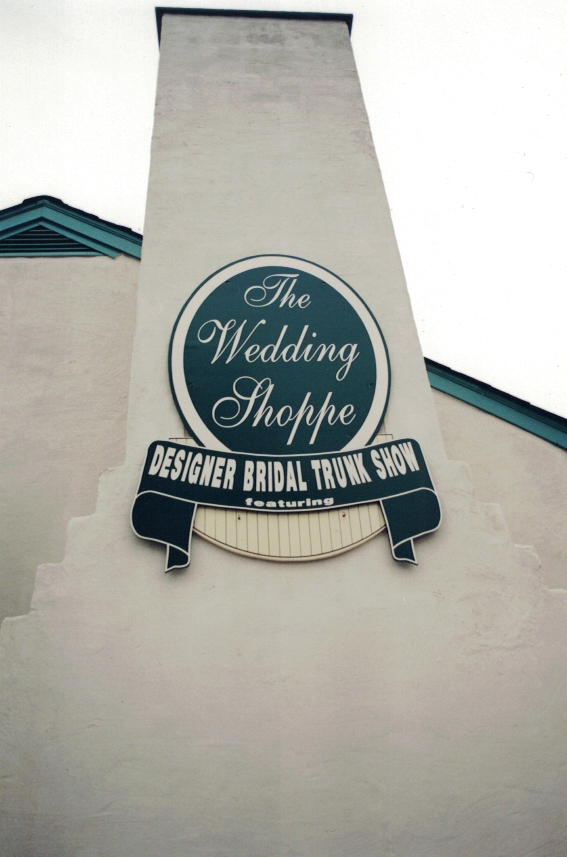 The Wedding Shoppe redwood Sign Studios