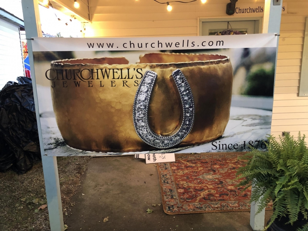 Churchwell's Jewelers Banner for Devon Horse Show