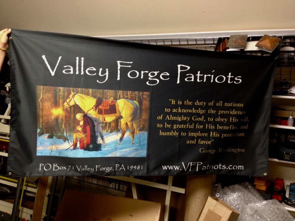 Valley forge Patroits banner Sign Studios